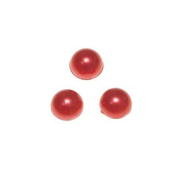 Flatback parel parelmoer rood 10 x 4 mm (ca. 50 stuks)