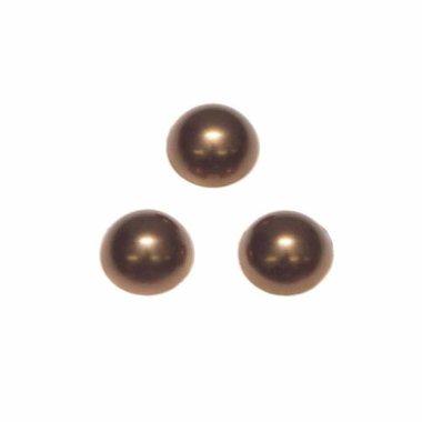 Flatback parel parelmoer bronskleurig 12 x 5 mm (ca. 50 stuks)
