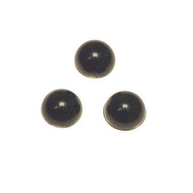 Flatback parel parelmoer zwart 12 x 5 mm (ca. 50 stuks)