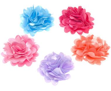 Bloem XL stof mix heldere kleuren ca. 5 cm (100 stuks)
