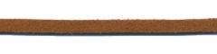 Imitatie suede veter bruin 3 mm (ca. 10 m)