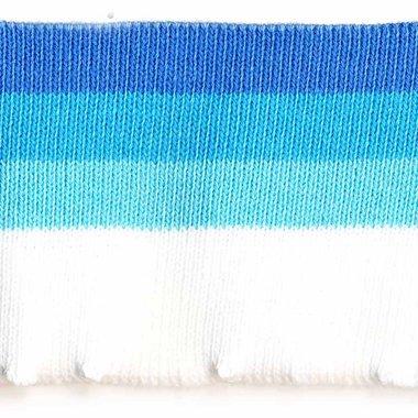 Boord donker blauw-blauw-licht blauw-wit gestreept ca. 60 cm (6 stuks)