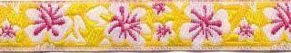 Geel hawaii bloemband 12 mm (ca. 22 m)