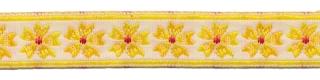 Geel bloemband 12 mm (ca. 22 m)