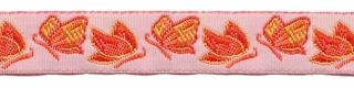 Oranje vlinder sierband 12 mm (ca. 22 m)