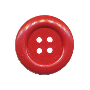 Knoop groot rood 35 mm (ca. 25 stuks)
