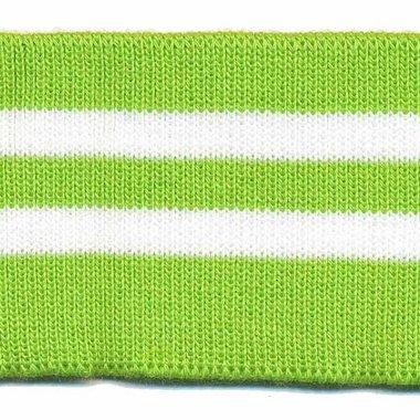 Boord groen-wit gestreept ca. 60 cm (6 stuks)