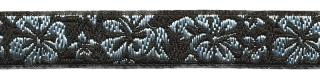 Zwart- zilver hawaii bloemband 12 mm (ca. 22 m)