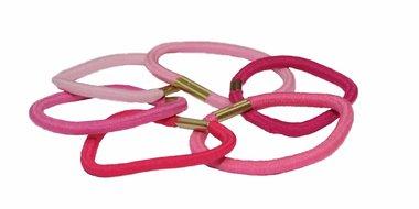 Haarelastiek basic mix roze (ca. 90 stuks)