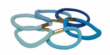 Haarelastiek basic mix blauw (ca. 90 stuks)