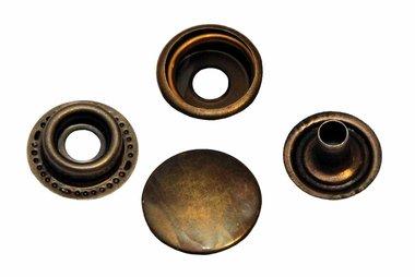 Drukker brons 15 mm, type 4-7 (ca. 25 stuks)
