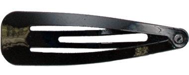 Klik-klak haarknipje ZWART 6,5 cm  (ca. 20 stuks)