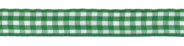 Ruit band groen-wit 10 mm (ca. 45 m)