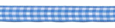 Ruit band blauw-wit 10 mm (ca. 45 m)