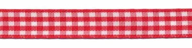 Ruit band rood-wit 10 mm (ca. 45 m)