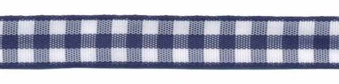 Ruit band donker blauw-wit 10 mm (ca. 45 m)