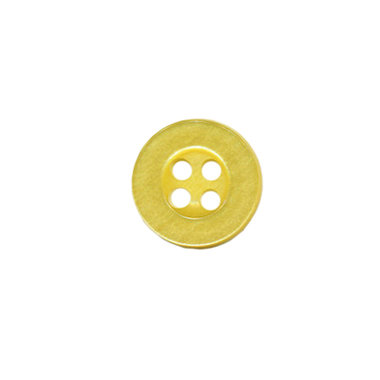 Knoop met 4 gaten geel 10 mm (ca. 100 stuks)