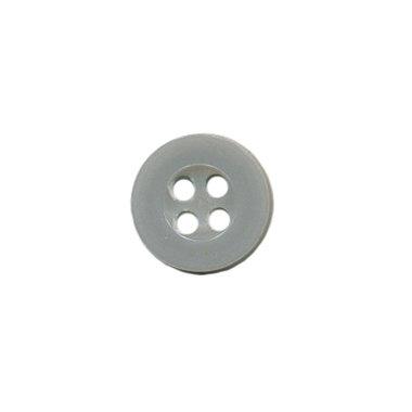 Knoop met 4 gaten grijs 10 mm (ca. 100 stuks)