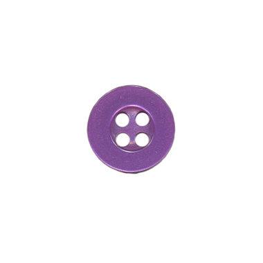 Knoop met 4 gaten paars 10 mm (ca. 100 stuks)
