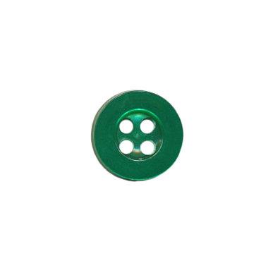Knoop met 4 gaten donker groen 10 mm (ca. 100 stuks)