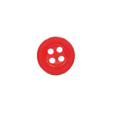 Knoop met 4 gaten rood 10 mm (ca. 100 stuks)