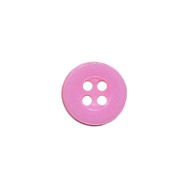 Knoop met 4 gaten roze 10 mm (ca. 100 stuks)