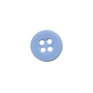 Knoop met 4 gaten licht blauw 10 mm (ca. 100 stuks)