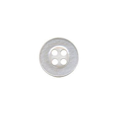 Knoop met 4 gaten doorzichtig/wit 10 mm (ca. 100 stuks)