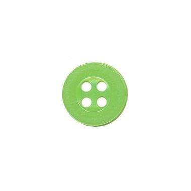 Knoop met 4 gaten appel groen 10 mm (ca. 100 stuks)