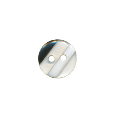 Knoop doorzichtig/wit/zwart gestreept 10 mm (ca. 100 stuks)