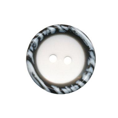 Knoop met opstaande rand wit-zwart/wit 20 mm (ca. 25 stuks)