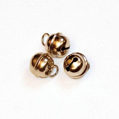 Ronde belletjes zilverkleurig 13 mm (ca. 25 stuks)