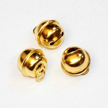 Ronde belletjes goudkleurig 18 mm (ca. 25 stuks)
