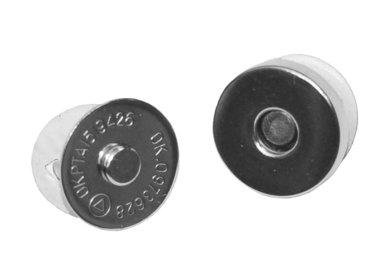 Magneetsluiting zilverkleurig 18 mm (10 stuks)
