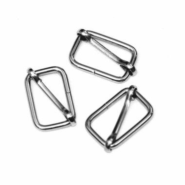 Metalen schuifgesp zilverkleurig 25 mm (10 stuks)