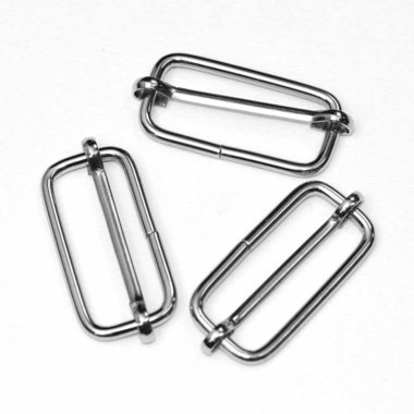 Metalen schuifgesp zilverkleurig 38 mm (10 stuks)