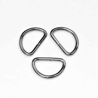 Metalen D-ring zilverkleurig 25 mm (ca. 25 stuks)