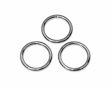 Metalen O-ring zilverkleurig ZWAAR 25 mm (ca. 25 stuks)
