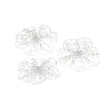 Kanten rozet wit ca. 32 mm (ca. 25 stuks)