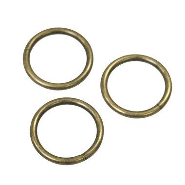 Metalen O-ring bronskleurig ZWAAR 30 mm (ca. 25 stuks)