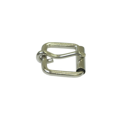 Metalen riem gesp zilverkleurig 25 mm (5 stuks)