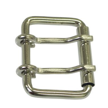 Metalen riem gesp zilverkleurig 50 mm met 2 pinnen (5 stuks)