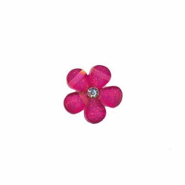 Flatback cyclaam bloem met 'kristalletje/strass' 17 mm (10 stuks)