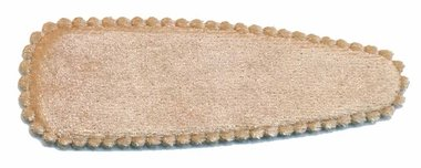 Haarkniphoesje fluweel champagne 8 cm (ca. 100 stuks)