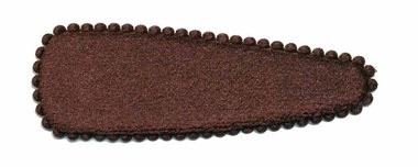 Haarkniphoesje fluweel bruin 7 cm (ca. 100 stuks)