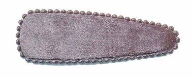 Haarkniphoesje fluweel zilvergrijs 7 cm (ca. 100 stuks)