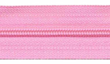 Nylon rits roze #513 maat 3 (ca. 5 m)
