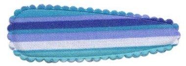 Haarkniphoesje gestreept blauw 5 cm (ca. 100 stuks)