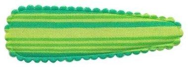 Haarkniphoesje gestreept groen 5 cm (ca. 100 stuks)