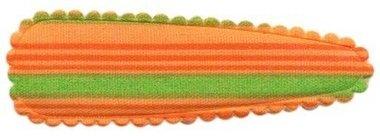 Haarkniphoesje gestreept oranje 5 cm (ca. 100 stuks)